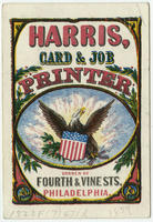 [Harris, card & job printer trade cards]