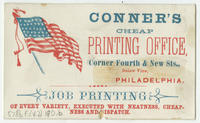 Conner's cheap printing office, corner Fourth & New Sts., below Vine, Philadelphia.