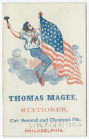 Thomas Magee, stationer, cor. Second and Chestnut Sts., Philadelphia.