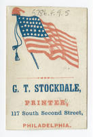G.T. Stockdale, printer, 117 South Second Street, Philadelphia.