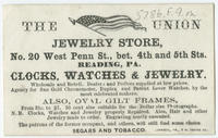 The Union jewelry store, No. 20 West Penn St., bet. 4th and 5th Sts., Reading, Pa.
