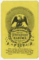 The cheapest and best. William W. Harding photograph albums, 326 Chestnut Street, Philada.