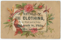 J. Holly, fine clothing, ready-made and to order, 1312 South St., Phila.
