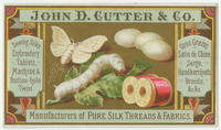 John D. Cutter & Co. manufacturers of pure silk threads & fabrics.