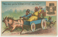 [Domestic Sewing Machine Co. trade cards]