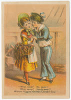 [Higgins' German laundry soap trade cards]