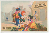 [Partridge's cafe and dining rooms trade cards]