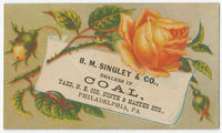 B.M. Singley & Co., dealers in coal, yard, N.E. cor. Ninth and Master Sts., Philadelphia, Pa.