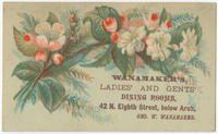 [Wanamaker's Dining Rooms trade cards]