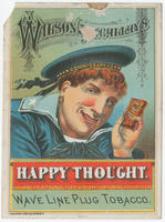 Wilson & McCallay's Happy Thought. Wave line plug tobacco.