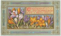 Compliments of J.E. Caldwell & Co., Easter 1880. Jewellers, silversmiths and importers, 902 Chestnut St., Philadelphia.