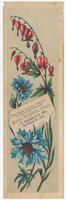This floral card was printed in 8 colors on the celebrated Model Printing Press, J.W. Daughaday & Co., mfrs., 721 Chestnut St., Phila.