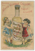 [Hoyt's German cologne trade cards]