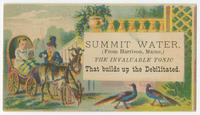 Summit Water, from Harrison, Maine, the invaluable tonic that builds up the debilitated.