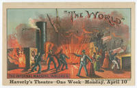 "[Haverly's Theatre, ""The World,"" trade cards]"