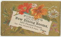 Forney's ladies and gent's new dining rooms, 1405 Filbert Street, opp. Penn. elevated R.R. depot, Phila.