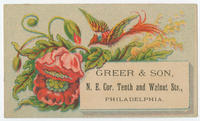 Greer & Son, N.E. cor. Tenth and Walnut Sts., Philadelphia.