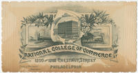 National College of Commerce, 1200 and 1202 Chestnut Street, Philadelphia.