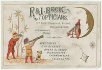 R. & J. Beck, opticians, No. 1016 Chestnut Street, Philadelphia.