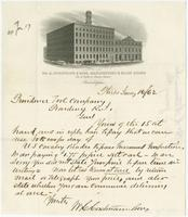Wm. H. Hortsmann & Sons, manufactory & sales rooms, cor. Fifth & Cherry Streets. Philadelphia.