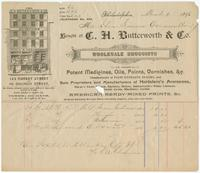 [Collection of business stationery of C.H. Butterworth & Co., wholesale druggists and dealers in paint, Philadelphia, Pa.]
