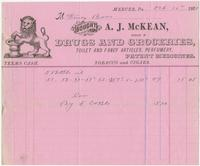 [Collection of billheads of pharmaceutical firms and related businesses, United States and United Kingdom, 1880-1898]