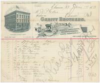 [Business stationery of Gerity Brothers, wholesale druggists, 126 Lake St. Cor. Carroll, Elmira, N.Y.