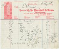 [Billheads from J.D. Marshall & Bros., later D. Marshall & Bro., druggists, 1215 Market Street, Philadelphia to E. Somers]