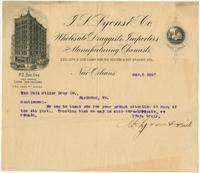[Business stationery of J. L. Lyons & Co., wholesale druggists, importers and manufacturing chemists, 222,224 & 226 Camp, 529, 531, 533, 535 & 537 Gravier Sts., New Orleans, La.]