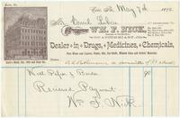[Billheads of William F. Nick, apothecary, dealer in drugs, medicines, and chemicals, Erie, Pa.]