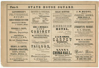 [Plate 8 and advertisements from Rae's Philadelphia pictorial directory & panoramic advertiser. Chestnut Street, from Second to Tenth Streets]