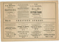 [Unnumbered plate and advertisements from Rae's Philadelphia pictorial directory & panoramic advertiser. Chestnut Street, from Second to Tenth Streets]