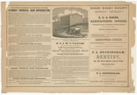 [Advertisements from Rae's Philadelphia pictorial directory & panoramic advertiser. Chestnut Street, from Second to Tenth Streets]
