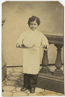 [African American serving boy]