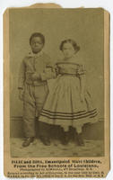 Isaac and Rosa, emancipated slave children, from the free schools of Louisiana.