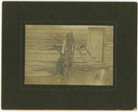 [Young African American man, possibly slave Jerry Stevens, at Raceland Plantation, Dinwiddie, Virginia]