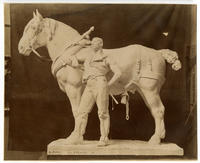 [Working plaster sculpture of D.C. French and E.C. Potter Columbian Exposition statue of African American teamster with work horse]