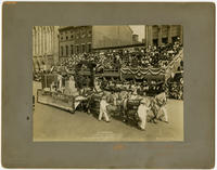 Founder's Week, Industrial Day, Oct. 7th 1908. Phila. Brewing Co.'s float. By courtesy of Philadelphia liquor dealers journal