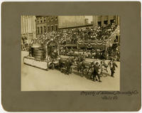Founder's Week, Industrial Day, Oct. 7th, 1908. Philadelphia Brewing Co's float. By courtesy of Philadelphia liquor dealers journal