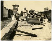 Construction of railroad tracks in Philadelphia, September 6, 1922