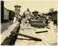 [Construction of railroad tracks in Philadelphia, September 6, 1922]