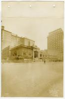 [Forrest Theatre during demolition for the construction of the Fidelity-Philadelphia Trust Company building, southeast corner of Broad and Walnut Streets, Philadelphia]