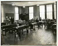 [Woodshop class at Philadelphia Orthopedic School, 22nd & Brown Streets.]