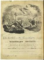 Missionary Society of the Methodist Episcopal Church [certificate]