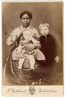 Copy photograph of African American nanny