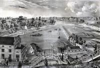 [A view of the Fairmount Water-Works with Schuylkill in the distance. Taken from the mount.] [graphic].