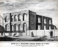 Ruins of St. Augustines Church North 4th Street Phila. Destroyed by a mob on the evening of the 8th of May 1844. [graphic] / L.F.