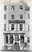 [Conrad & Roberts hardware & cutlery, 123 N. Third Street, Philadelphia] [graphic] / Drawn on stone W. H. Rease, 17 So. 5th St. Phila.