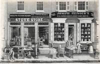 [Joseph Feinour & Son stove store and Joseph Feinour's tin, copper brass & iron ware house 213-215 South Front Street, Philadelphia] [graphic] / ...by W. H. Rease, 17, So. 5th St.