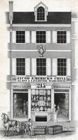 [Jacob Emerick importer and wholesaler, dealer in china, glass & Queensware, No. 215 North Third Street. Philada. 4 doors below Callowhill St. east side. Packing warranted.] [graphic] / M.S.W.